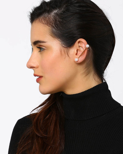 Pearl Ear Cuff By AJIO ( Gold )