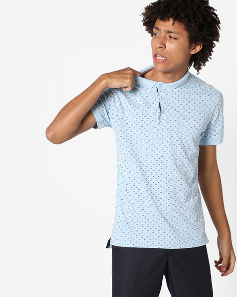 All-Over Print Polo T-shirt By LEVIS ( Blue )