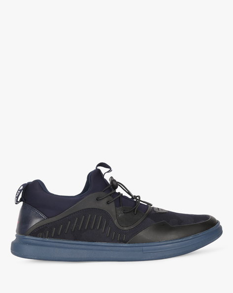 Panelled Sneakers With Toggle Closure By DUKE ( Navy )