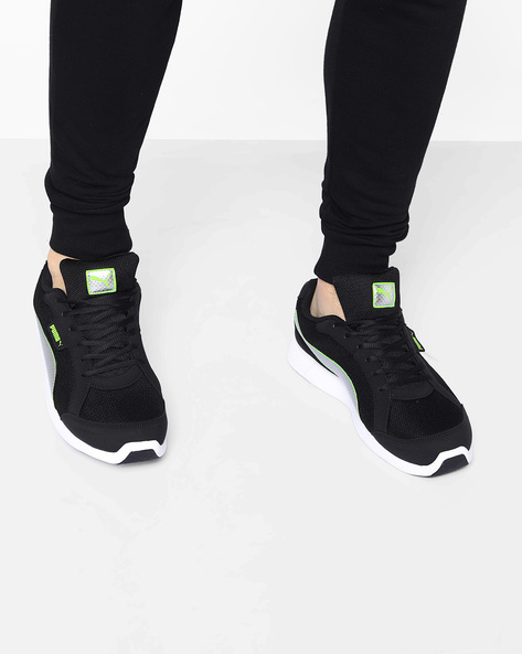 Electro IDP Running Shoes By Puma ( Blkgrn )