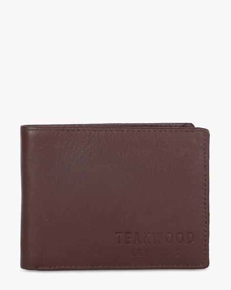 Leather Bi-Fold Wallet By TEAKWOOD LEATHERS ( Brown ) - 460173777001