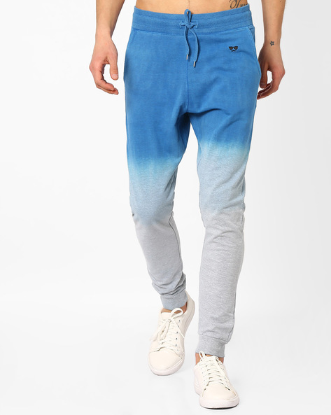 Ombre-Dyed Jogger Pants By Garcon ( Blue )