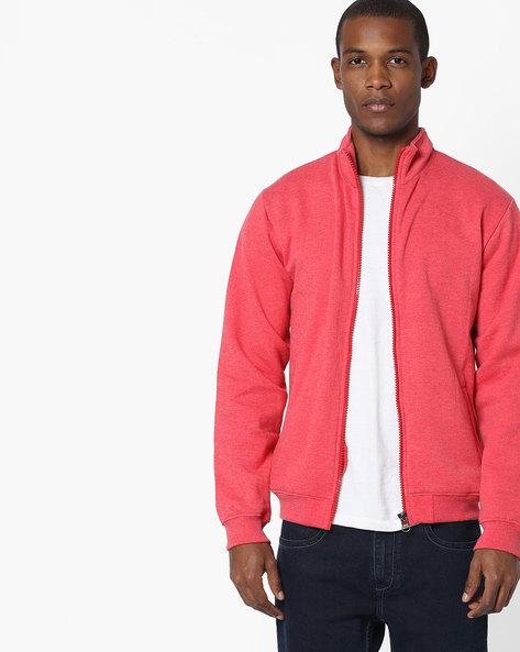 Zip-Front Fleece Sweatshirt By Fort Collins ( Red )