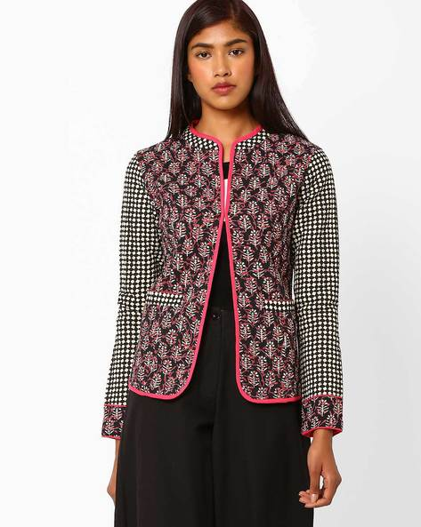 Quilted Cotton Jacket By AJIO ( Black )