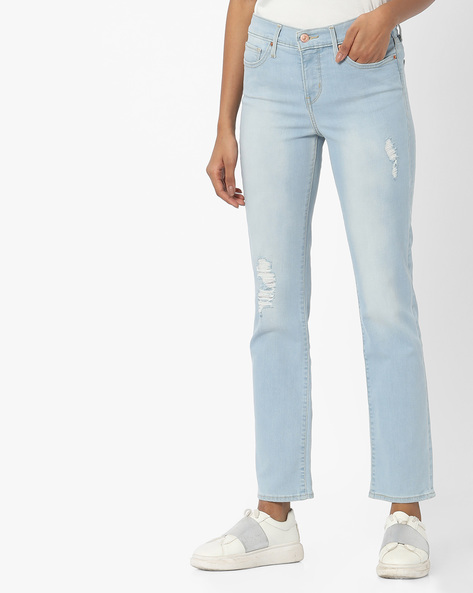 312 Skinny Fit Distressed Jeans By LEVIS ( Blue )