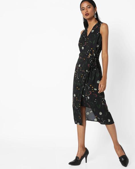 Printed Sheath Dress By AJIO ( Navyblue )