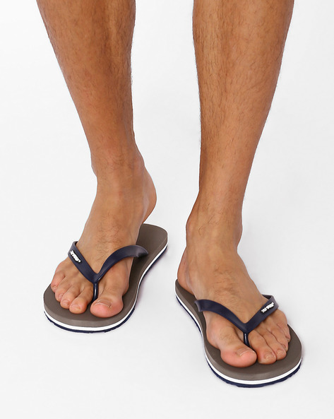 Thong-Style Flip-Flops By Sole Threads ( Gray )