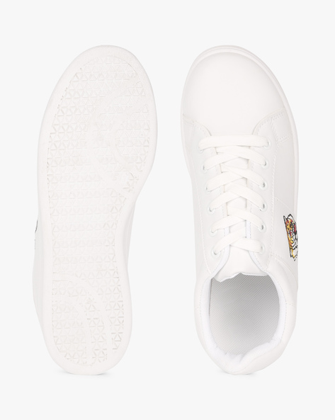 Low-Top Lace-Up Sneakers By Truffle Collection ( White )