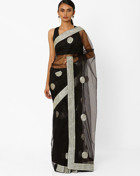Net Designer Saree By RCPC ( Black )