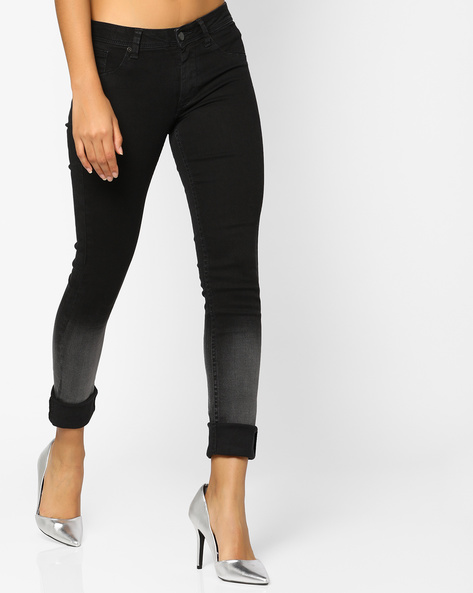 Lightly Washed Slim Fit Jeans By Lee ( Black )