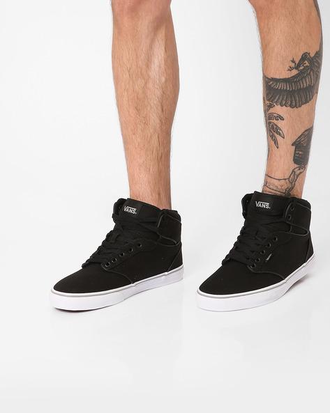 Mid-Top Canvas Sneakers By Vans ( Black )