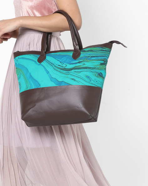 Panelled Tote Bag With Short Handles By Project Eve ( Multi )