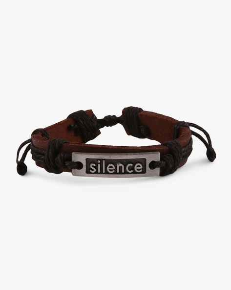 Faux-Leather Bracelet By ALPHA MAN ( Black ) - 460068265001