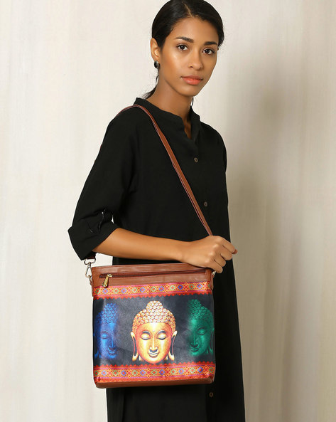 Digital Print Sling Bag By All Things Sundar ( Multi ) - 460040247001