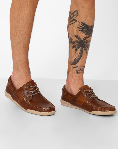 Genuine Panelled Lace-Up Shoes By RED TAPE ( Brown )