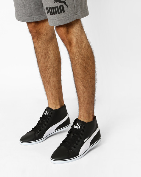 High-Top Lace-Up Sneakers By Puma ( Black )