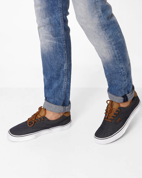 Era 59 Panelled Casual Shoes By Vans ( Navy )