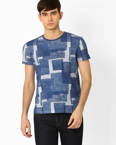 Graphic Print Slim T-shirt By Lee ( Dkblue )