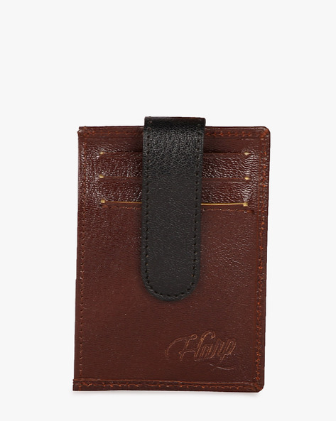 Lebach Unisex Card Holder With ID Slot By Harp ( Brown )