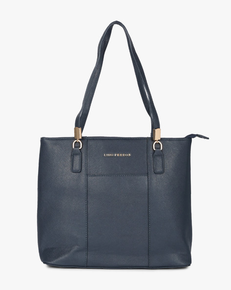 Textured Tote Bag By Lino Perros ( Blue ) - 450110453001
