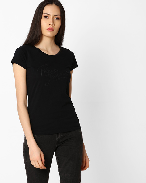 Printed T-shirt With Short Sleeves By Pepe Jeans ( Black )