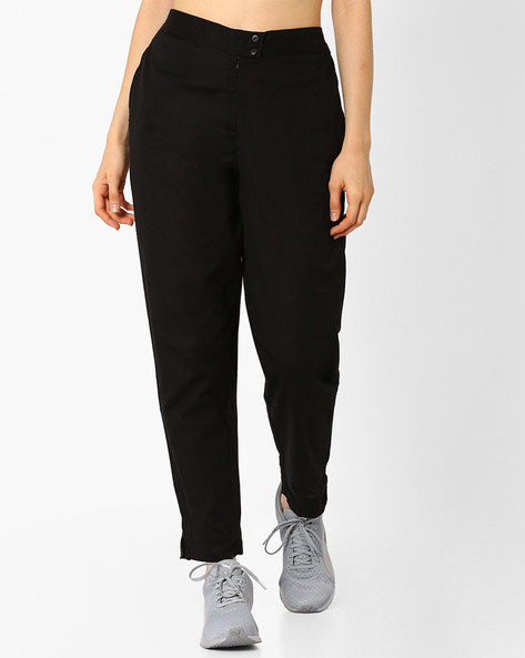 Tailored Fit Straight Trousers By Avaasa Ariah ( Black )