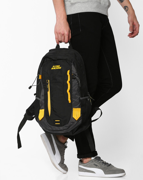 Backpack With Laptop Sleeve By FLYING MACHINE ( Multicolour ) - 460052983001