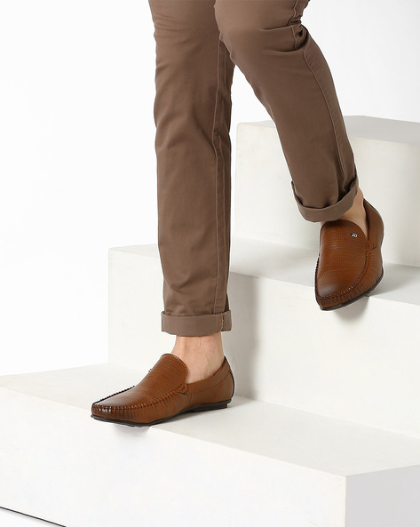 Casual Slip-On Shoes By ID ( Brown )
