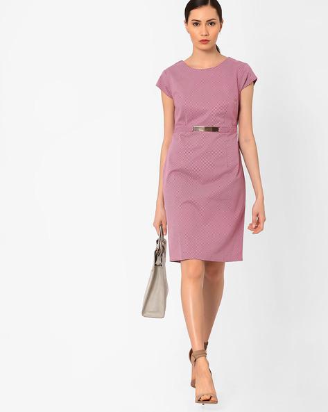 Ditsy Print Sheath Dress By AJIO ( Pink )