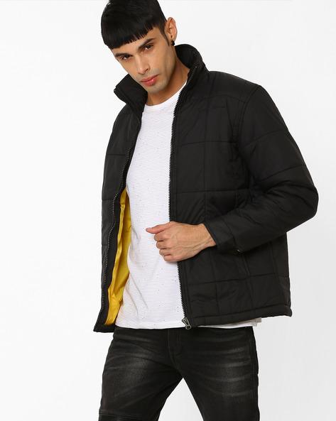 Zip-Front Regular Fit Jacket By Fort Collins ( Black )