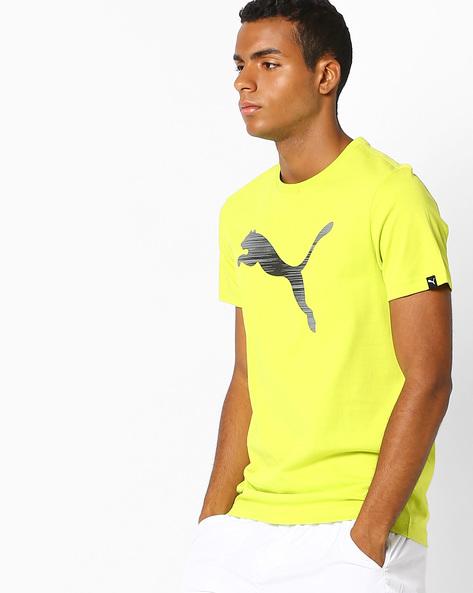 Graphic Print Rebel T-shirt By Puma ( Yellow )