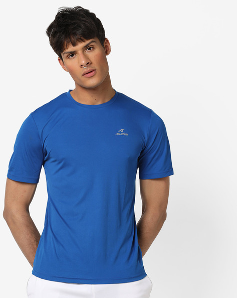 Crew-Neck T-shirt With Signature Branding By ALCIS ( Lightblue )