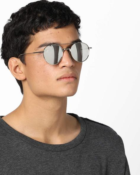 Mirrored Gradient Sunglasses By CLARK N PALMER ( Silver )