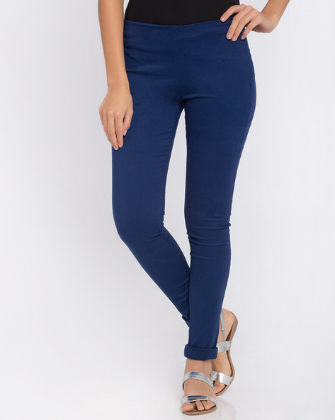 Slim Fit Trousers By Candies By Pantaloons ( Blue )