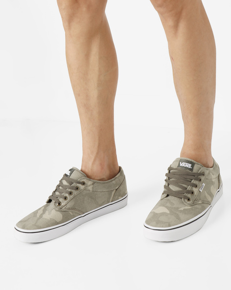 Camouflage Lace-Up Shoes By Vans ( Khaki )