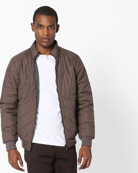 Reversible Quilted Jacket By Fort Collins ( Coffeebrown )