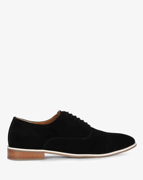 Suede Formal Shoes With Lace-Ups By Piaffe ( Black )