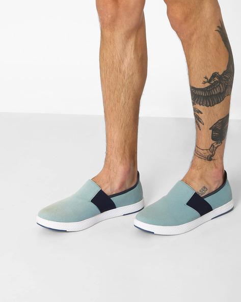 Adler Canvas Slip-On Shoes By Spunk ( Lightblue )