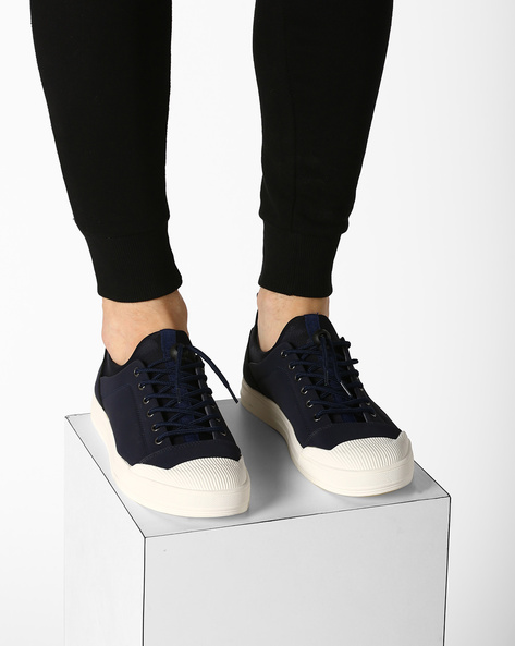 Smart Cup Lace-Up Sneakers By Muddman ( Navy )