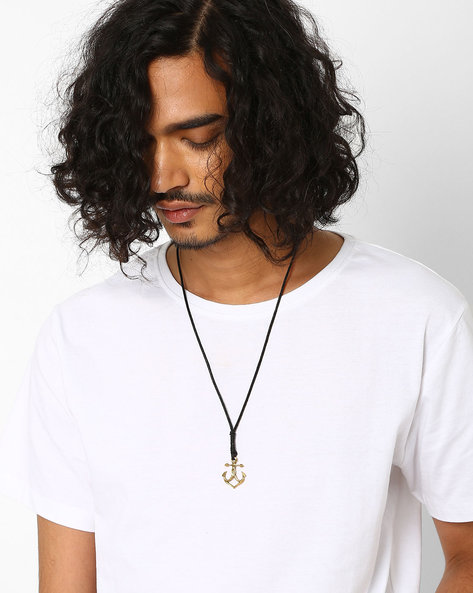 Anchor Pendant Neckpiece By Alto Vida ( Black )