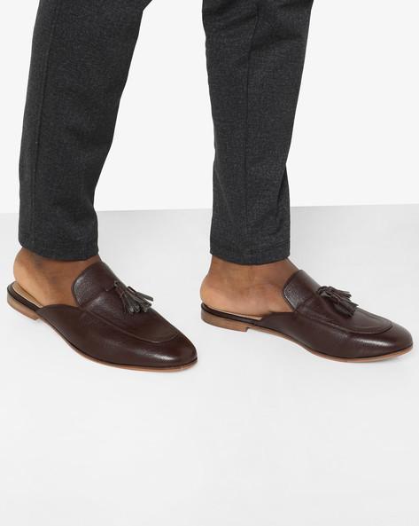 N9 Treated Slip-On Shoes With Tassels By AJIO ( Darkbrown )