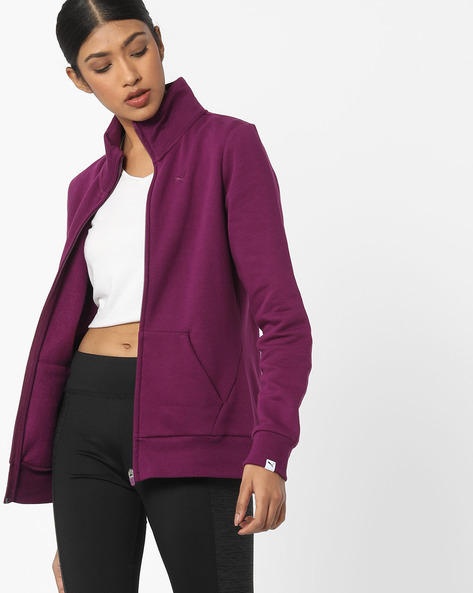 Zip-Front Sweatshirt With Insert Pockets By Puma ( Purple )