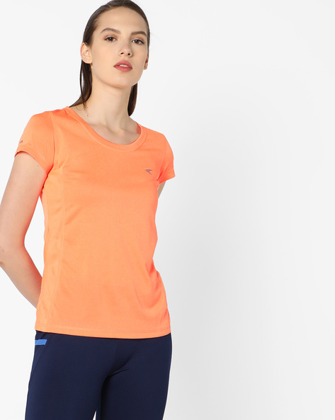 QuickDry T-shirt With Shifted Seams By PERFORMAX ( Orange )