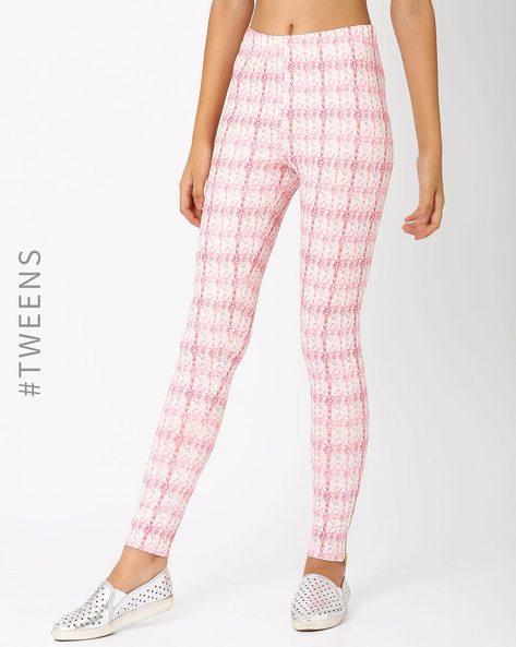Printed Leggings By AJIO ( Pink )