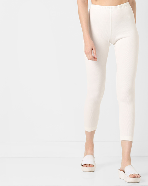 Cropped Thermal Leggings By Jockey ( Offwhite )