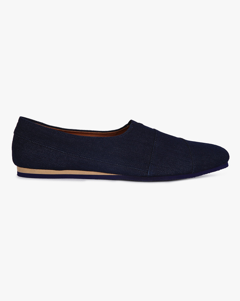 Canvas Slip-On Shoes By Funk ( Denim )