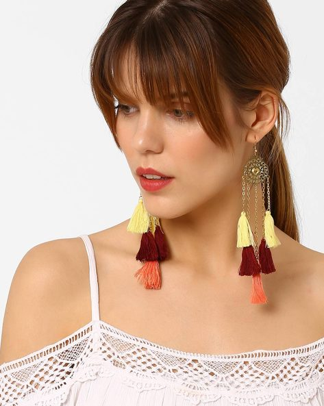 Drop-Earrings With Tassels By BLUEBERRY ( Gold )