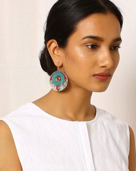 Brass Drop-Earrings By Indie Picks ( Multi ) - 460042514001