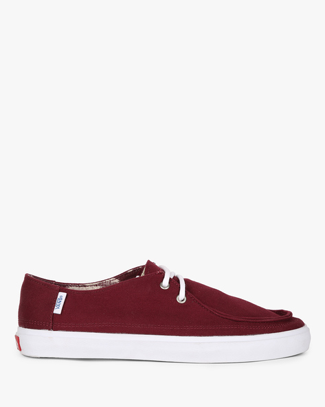 Low-Top Lace-Up Casual Shoes By Vans ( Blue ) - 460193976005