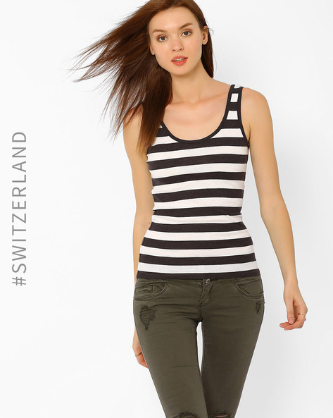 Striped Tank Top By TALLY WEiJL ( Grey )
